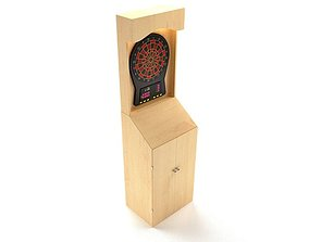 Wooden Darts Game 3D model