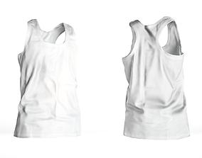3D model Basic white male tank top