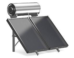 Solar Heating Panel 3D Model water