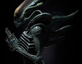 Alien Xenomorph 3D model ready for printing sculptures
