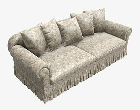 Sofa and five cushions 3D