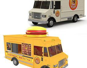 Burger Trucks Collection 3D