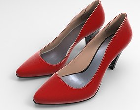 3D model Chuncky Heel Stiletto Ladies Shoes