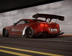 Nissan GT-R 3D asset rigged
