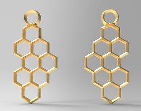 3D print model Hexagon earrings