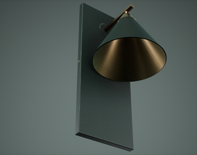 Table Lamp Low Poly Game Ready 3D model