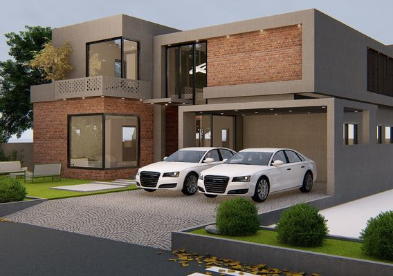 45x90 house plan 3d