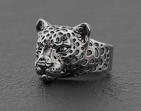 3D printable model Leopard ring panther ring jaguar ring 3