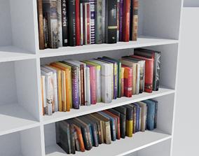 3D bookshelf with books pack
