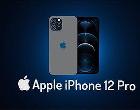 3D asset low-poly Apple iPhone 12 Pro