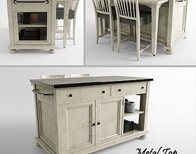 3D printable model Metal Top Kitchen Island