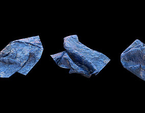 Blue tarp set 1 - PBR low poly model 3D asset