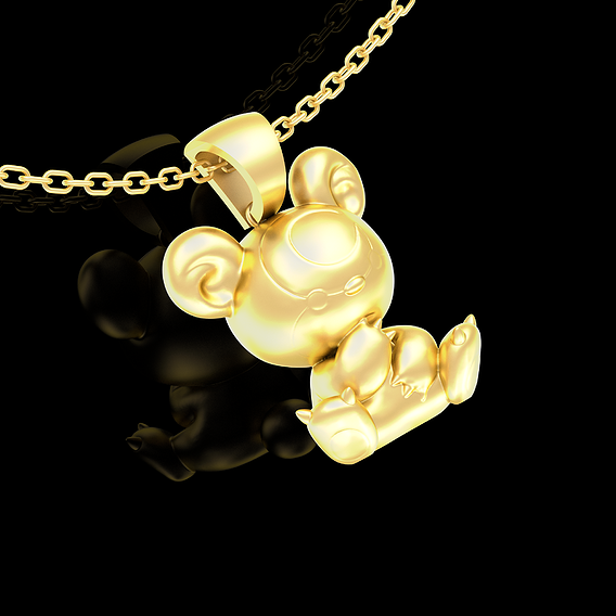Teddiursa Pendant jewelry Gold 3D print model