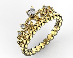 Crown ring 3 3D print model