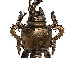 3D asset Dragon Incense