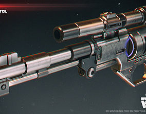 DE-10 blaster pistol 3D printable model