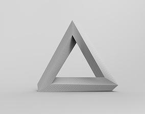 Penrose Triangle 3D printable model