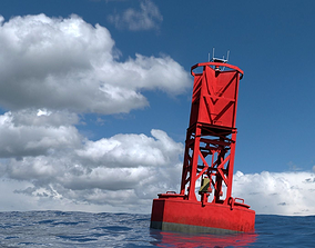 3D asset VR / AR ready Ocean Buoy