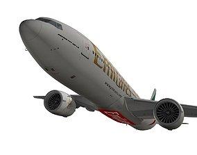 3D Boeing 777-200LR Emirates
