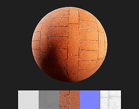 3D Brick Floor Texture