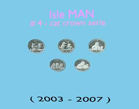 3D Cat coin - set model 4 of isle Man