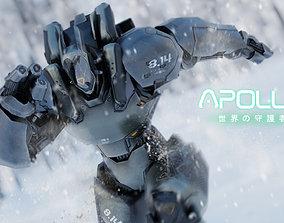 Low Poly Robot - Apollo 3D asset