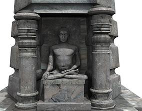 budha temple 3d model