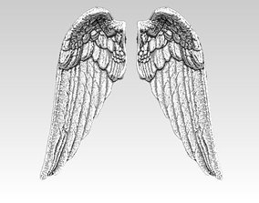 angel bird pair wings 3D print model animal