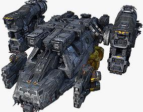3D model SciFi Cargoship
