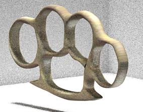 3D model USA Brass Knuckles