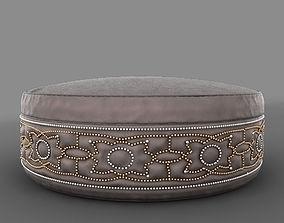 Carina Round Ottoman 3D model