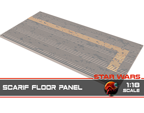 3D printable model Star Wars Rogue One Scarif floor 2