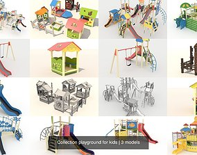 Collection playground for kids 3D