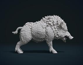 hog 3D print model Wild Boar in static pose