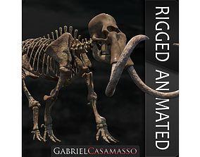 3D model Woollly Mammoth Complete Skeleton System