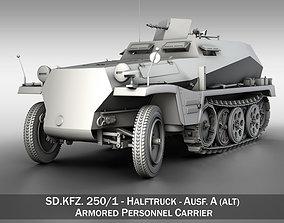 SDKFZ 250 - German Halftruck 3D sdkfz