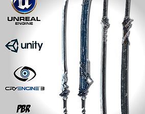 Sci-fi Swords Pack 1 3D asset