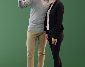 3D model Ina and Simon 10037 - Standing Casual Couple