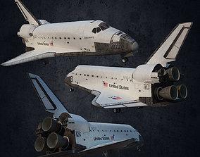 3D model Plane Andromeda space shuttle of America