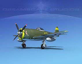 Republic P-47D Thunderbolt V05 3D