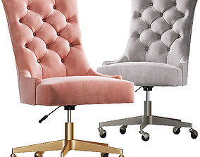 3D model Rh Martine adjustable velvet desk Chair