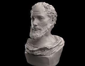 Aristotel Bust Statue 3D model