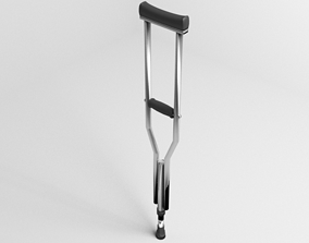Walking Crutch - Axillary 3D model