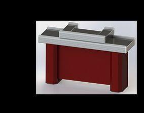 Compact cash desk 3d model