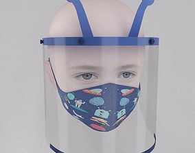 3D Medical face shield and mask for kids