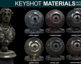 shining 3D model Metal Materials for Keyshot