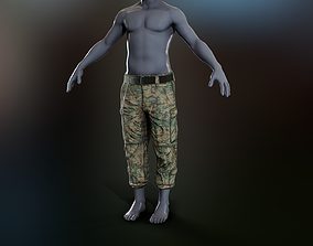 USMC Frogsuit Trousers 3D asset