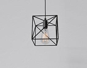 3D Cage Pendant Light 09