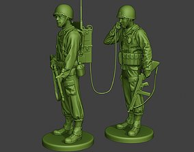 American engineer soldiers ww2 SCR-300 3D printable model