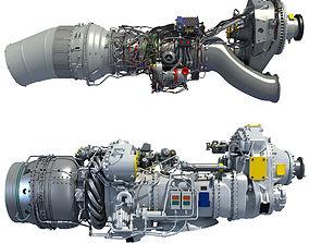 3D model Set of Turboprop Engines